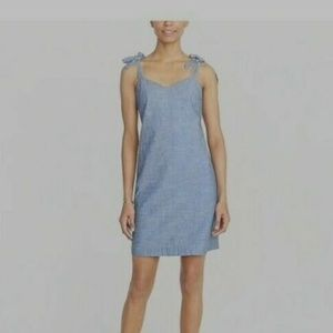 J. Crew Tie-Shoulder Summer Dress in Denim